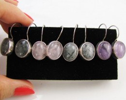 4 MIXED GEMSTONE EARRINGS-RE SELLERS PARCEL MJA1160