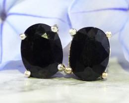 Australian Sapphire in silver  Earrings   WS538