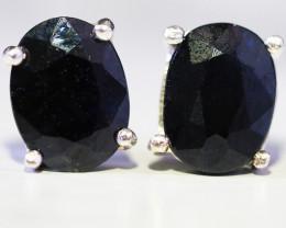 Australian Sapphire  Silver Earrings   WS540