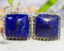 Lapis lazuli    Silver Earrings   WS529