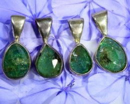 Silver Emerald Pendants