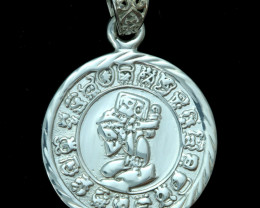33.40 CTS END OF THE WORLD MAYAN CALANDER PENDANT [SJ4523]