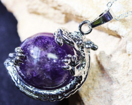 MYTHOLOGICAL DRAGON AMETHYST PENDANTS BU1124