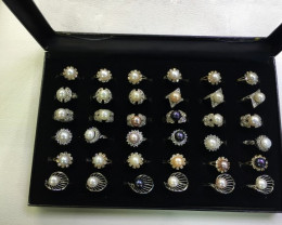 Resellers Trade Pack, Parcel Deal 36 Pearl Rings PPP100