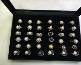 Resellers Trade Pack, Parcel Deal 36 Pearl Rings PPP100