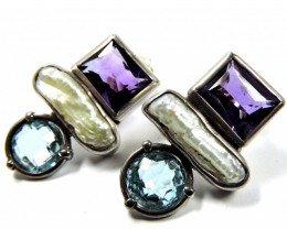 Earrings-Natural Gemstones