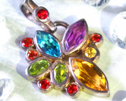 Cluster Gemstone Pendants