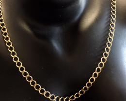 6.10 Grams 18 K  ITALIAN CURB GOLD CHAIN 6.10 GRAMS L 412