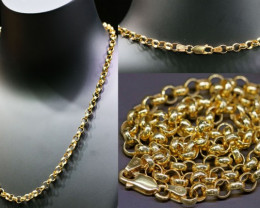16.5 Grams 9K  ROUND GOLD CHAIN, 45 CM LONG L367