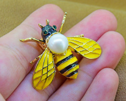 Goldfilled Bumblebee Brooch
