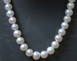 8.5mm round graded high luster pearl strand 40cm length PPP142