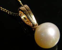 Gold Pearl Pendants