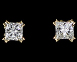 0.20 cTS Australian 9ct Gold Classic Diamond Earrings .20 ct JAO 27