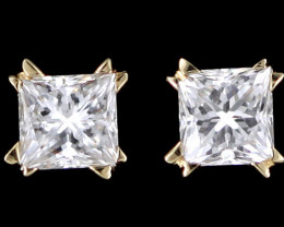 0.35 Cts Australian 18ct Gold Classic Diamond Earrings .35 ct JAO42