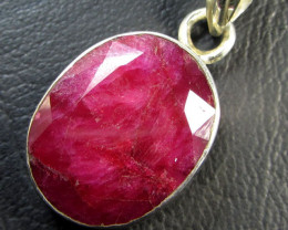 45 TCW CTS AFRICAN RUBY SILVER PENDANT GG 769