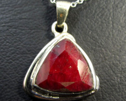 39 TCW CTS AFRICAN RUBY SILVER PENDANT GG 770