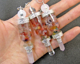 Three mixed Gemstone Holistic Pendulums MJA 442