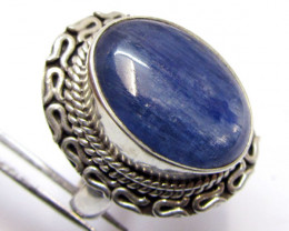 Blue Kyanite Ggemstone Ring Size 8 MJA 343