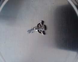 CHILDRENS STERLING SILVER ANGEL PENDANT HAND CRAFTED