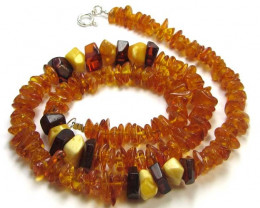 NATURAL BALTIC AMBER NECKLACE 44 CM MGMG 241