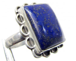 LAPIS LAZULI n PYRITE INCLUSIONS  RING SIZE 8 MJA 334