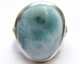 Larimar Gemstone Ring Size 9 MJA 346