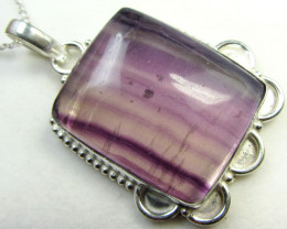 UNIQUE  VEINED FLUROITE PENDANT LARGE GG 661