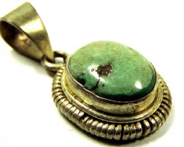 Ancient Turquoise pendant Nepal JGG 155