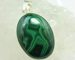 MALACHITE IN SILVER PENDANT GG 1077