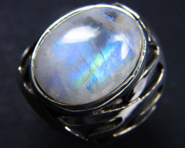 MOONSTONE STYLISH SILVER RING SIZE 8 GRR 153