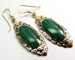 MALCHITE IN BRONZE SHEPPARD SWING  EARRINGS RT 331