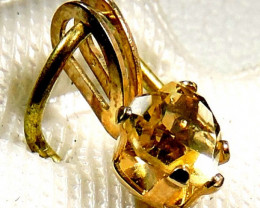 Cute 10k citrine gold pendantl JGG 165