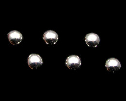 FOUR MODERN BALL8 MM STERLING SILVER EARRING MYT 557