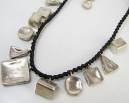 TRIBAL SILVER NECKLACE mja 1104