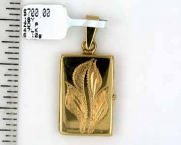 6.1 grams 18K GOLD LOCKET PENDANT 6.1 GRAMS GP1