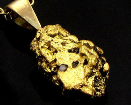 HEAVY GOLD NUGGET PENDANT 5.57 GRAMS LGN 856