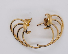 2.3 GRAMS 18K GOLD EARRING 2.3 GRAMS L616