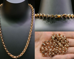 36.9 grams 9K ROUND  GOLD CHAIN ROSE GOLD L413