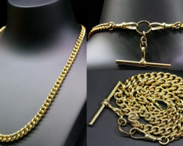 61 Grams 9K  CURB GOLD CHAIN L423