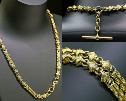 46.6 grams 9K ANTIQUE STYLE  GOLD CHAIN L420