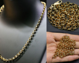 17.3 Grams 9K ROUND GOLD CHAIN, 45 CM LONG L365