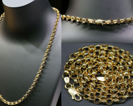 19 grams 9K ROUND GOLD CHAIN 50 CM LONG L361