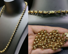 37.2 grams 9K ROUND GOLD CHAIN, 55 CM LONG L364