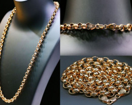 47.1 Grams 9 K ROUND  GOLD CHAIN ROSE GOLD L425