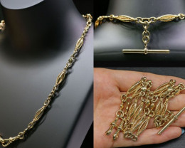 37.9 Grams 9K ANTIQUE STYLE GOLD CHAIN L421