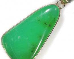 LARGE CHRYSOPRASE SILVER PENDANT-FACTORY DIRECT [SJ4653]