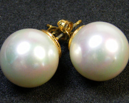 GOOD LUSTRE FRESHWATER PEARL EARRINGS 32.20 CTS AG 880