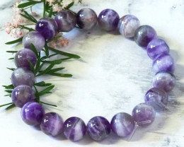 Natural Amethyst  11 MM Bracelet WS263