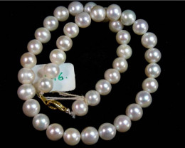 10 mm IVORY FRESH WATER PEARL NECKLACE STRAND 11 146