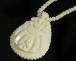 HANDCARVED CAMEL BONE IVORY NECKLACE TR 701